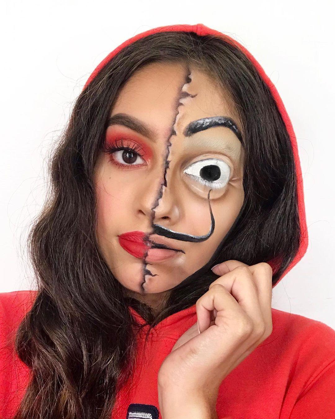 La Casa De Papel Costume Halloween Makeup Fantasy Makeup