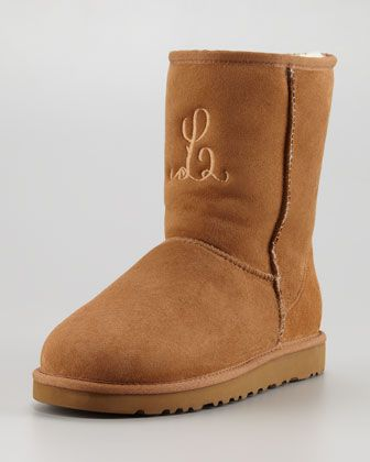 f9827de16a1 Monogrammed Short Boot, Chestnut by UGG Australia at Neiman Marcus ...