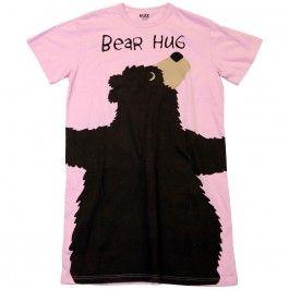 060aa14544 Lazy One Pink Bear Hug Nightshirt www.Silverhooks.com