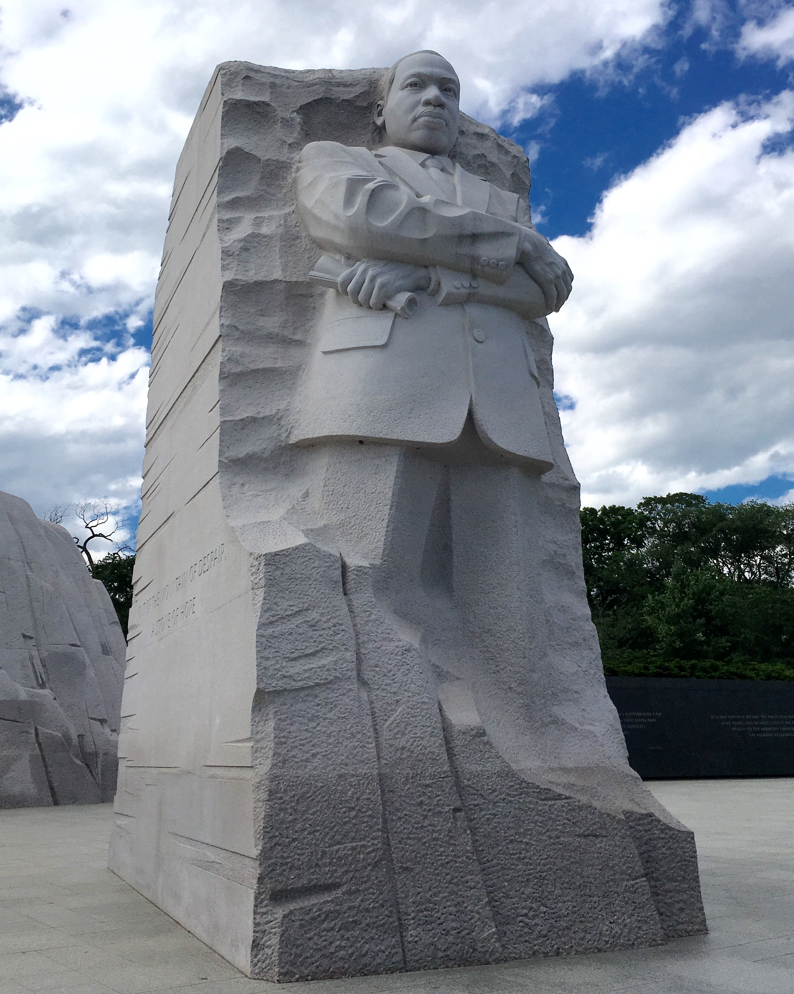 Martin Luther King Jr Statue At Mlk Memorial On The Side Says Out