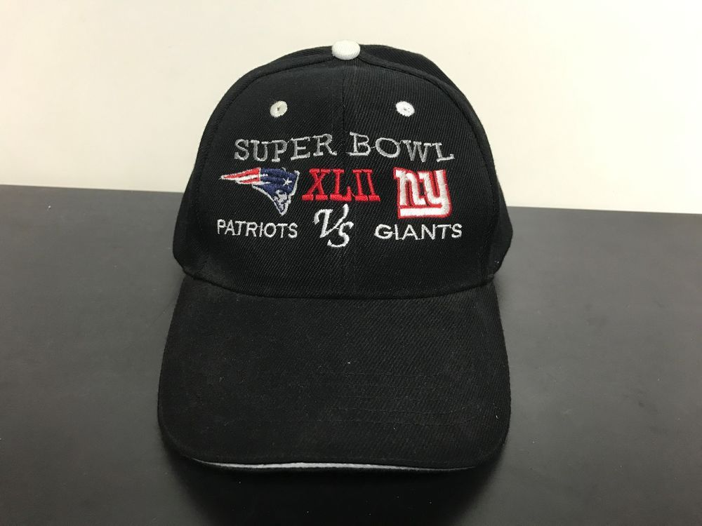 3aae03941e8 SUPER BOWL XLII New England Patriots vs New York Giants Collectible Hat   NewEnglandPatriots