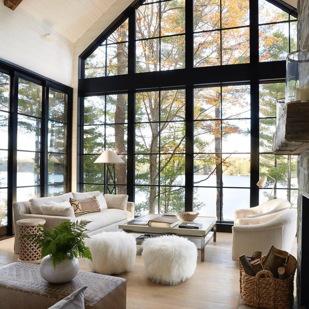 38 Small Yet Super Cozy Living Room Designs: Elegant Yet Understated, This Lakeside Retreat Provides