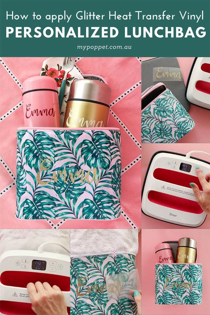 DIY Personalised Lunch Bag & Flask with Cricut ...