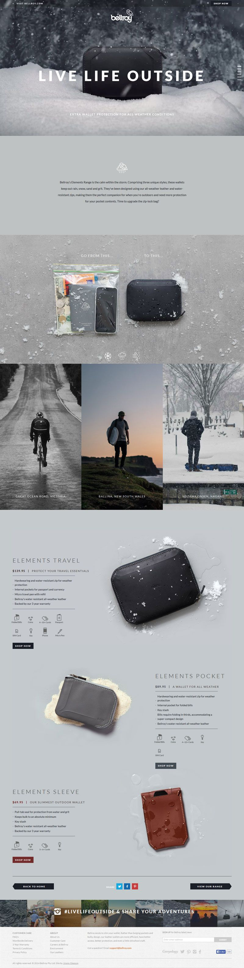 Stunning lifestyle images really carry this minimalist but informative website design. #website #webdesign #creativity