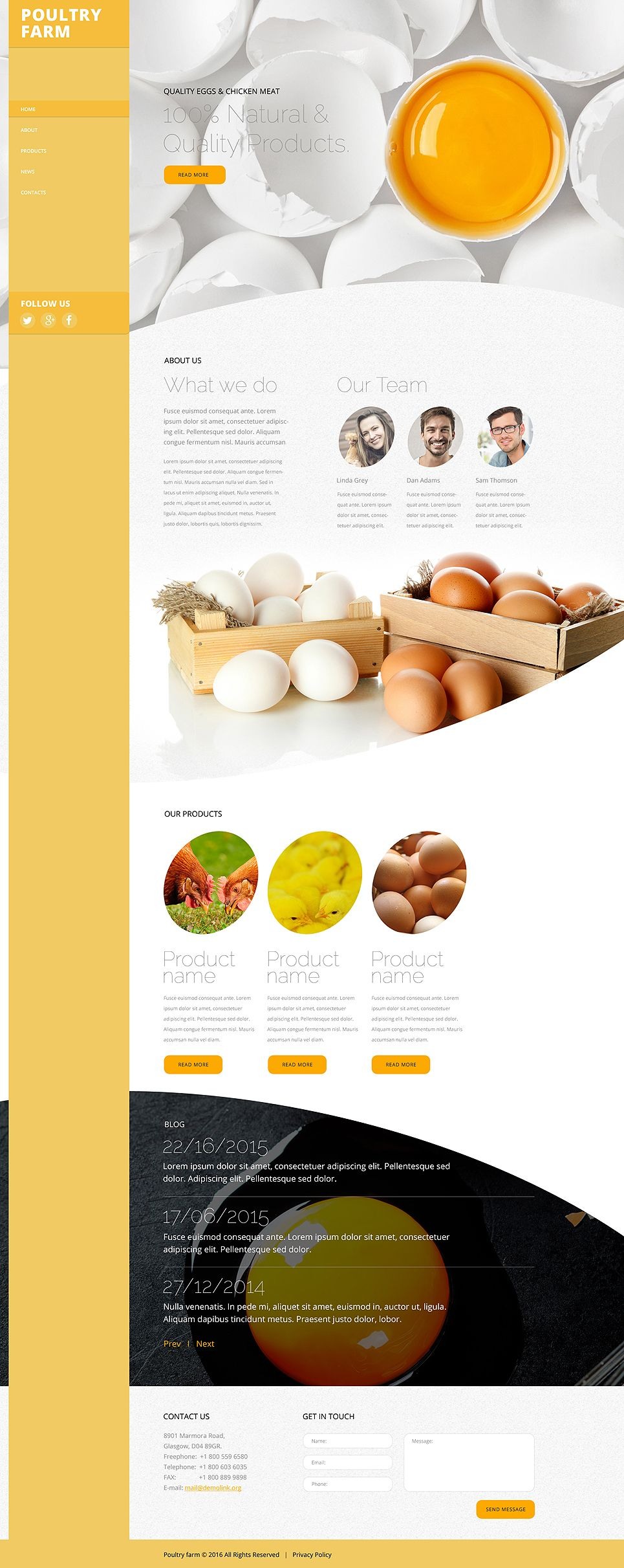 Poultry Farm #website #template. #themes #business #responsive ...