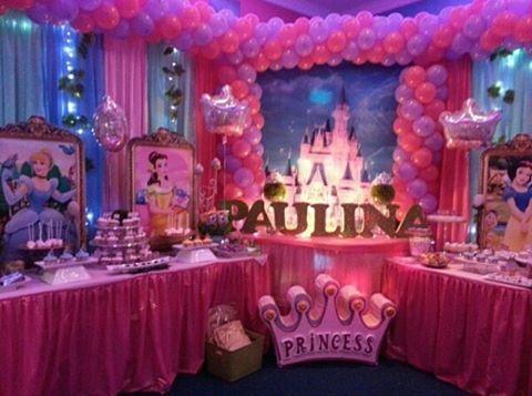 Reunimos a todas las princesas de disney para celebrar en for Decoracion de princesas