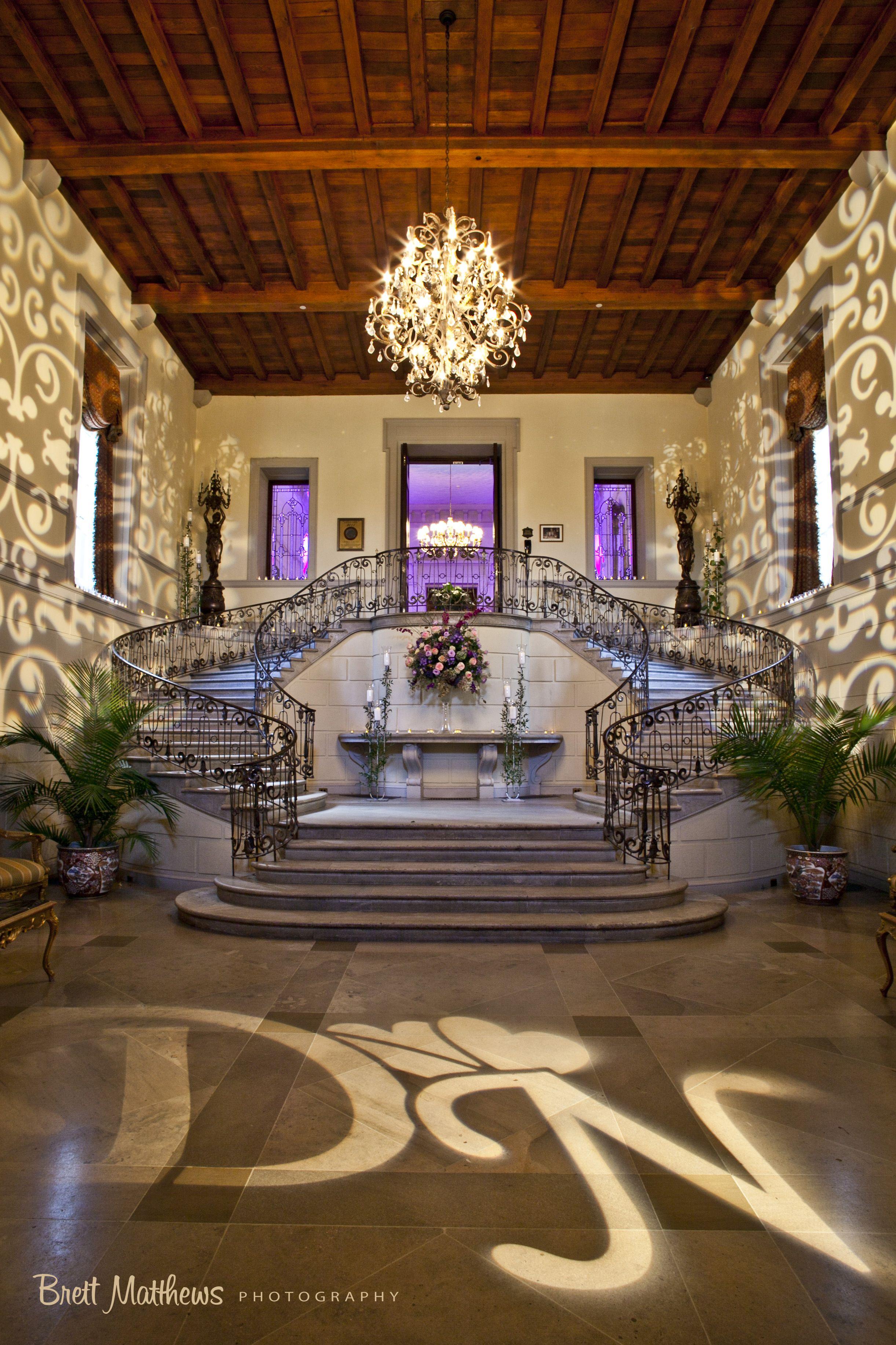 Foyer Decor For Wedding : Entry foyer grand staircase brett matthews photography