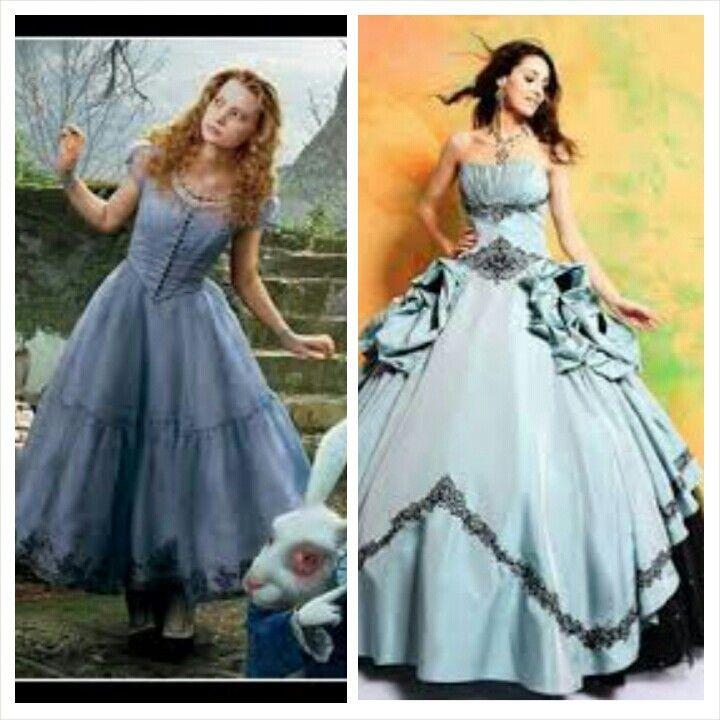 alice in wonderland inspired quinceanera dress quince