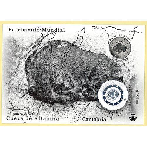 "Prueba de Artista ""Patrimonio Mundial"" Cueva de Altamira con Sello de plata. http://www.filatelialopez.com/122-patrimonio-mundial-cueva-altamira-sello-plata-p-18330.html"