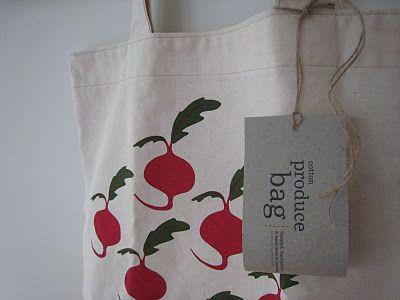 bubala: Screen printed produce bags