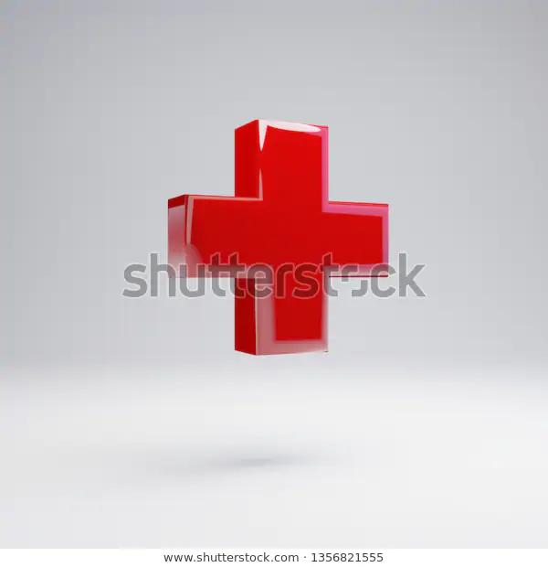 Volumetric Glossy Red Plus Symbol Isolated Stock Illustration 1356821555 Stock Illustration Logo Design Template Symbols