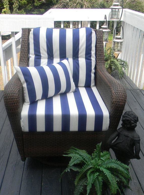 Deep Seating Chair Cushion Set Blue By Pillowscushionsohmy 149 99 Deep Seating Chair Patio Seat Cushions Deep Seat Cushions