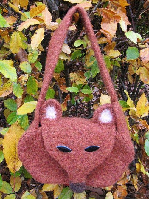 Felted Fox Bag