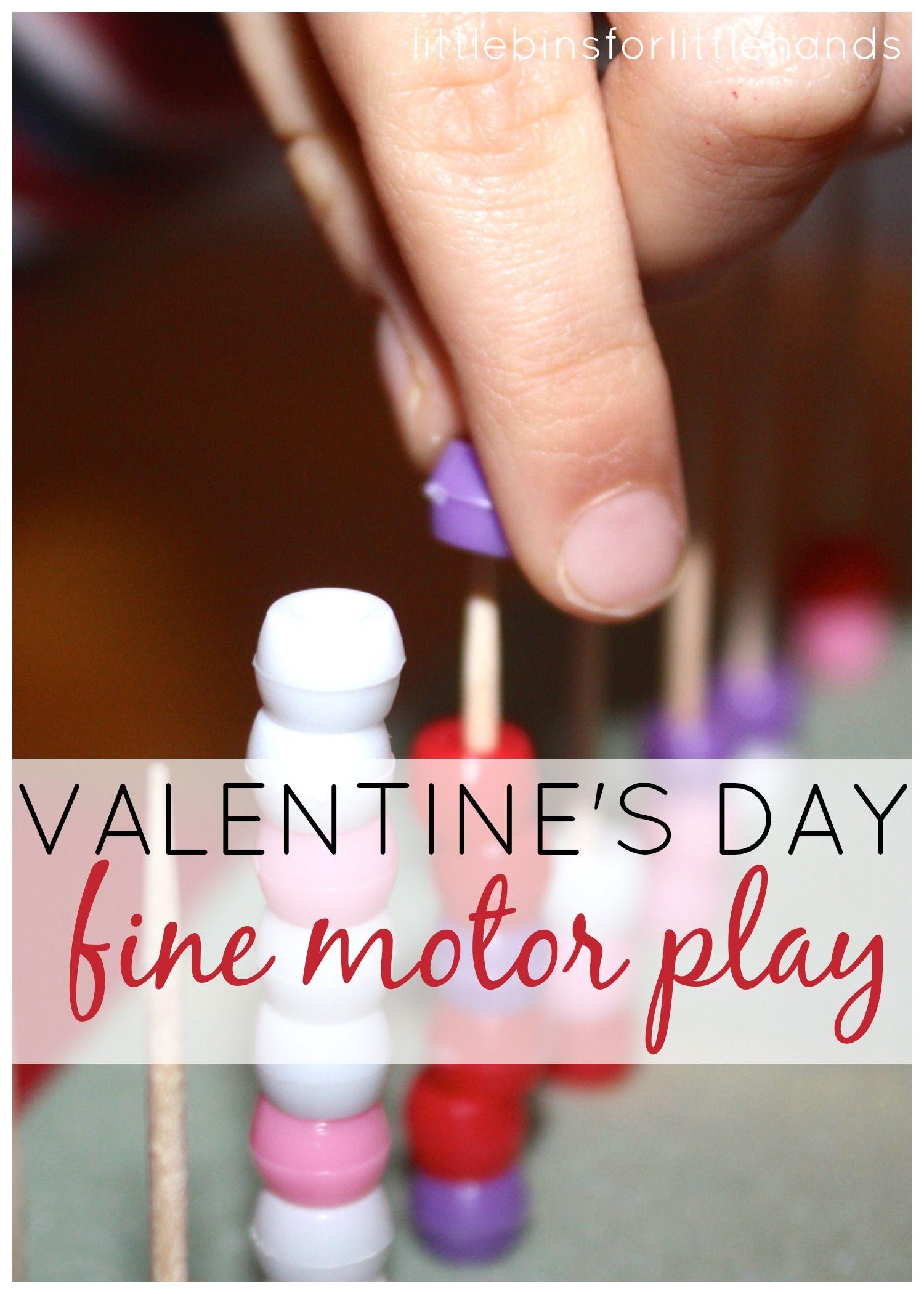 Simple Valentines Fine Motor Skills Activities