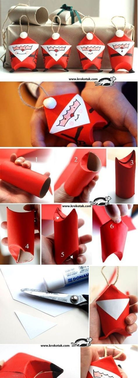 Bricolages de Noël avec des rouleaux de papier #noel2019bricolage