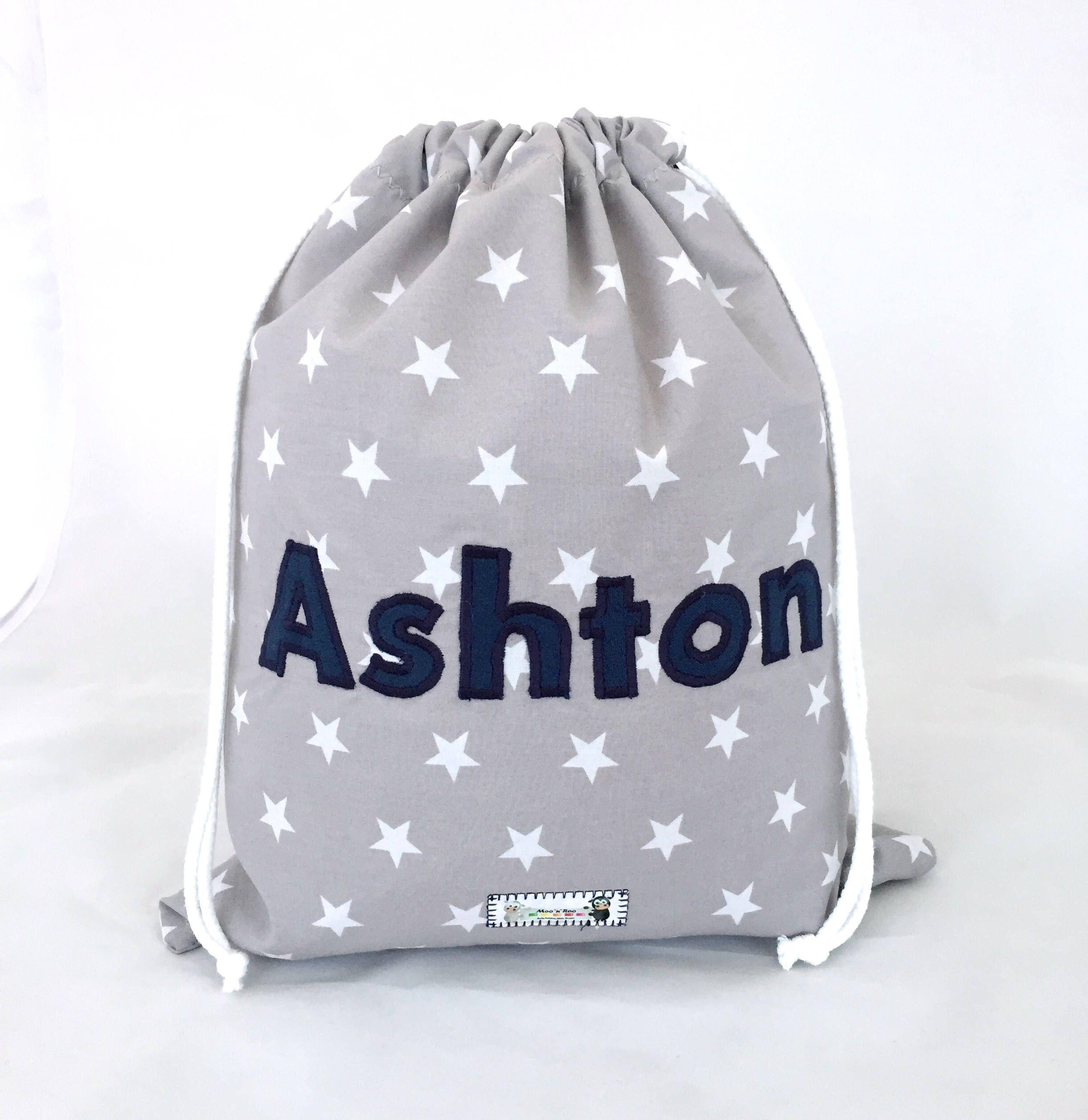 Kids Children's Personalised Drawstring Bag, Boys, Girls, PE Bag ...