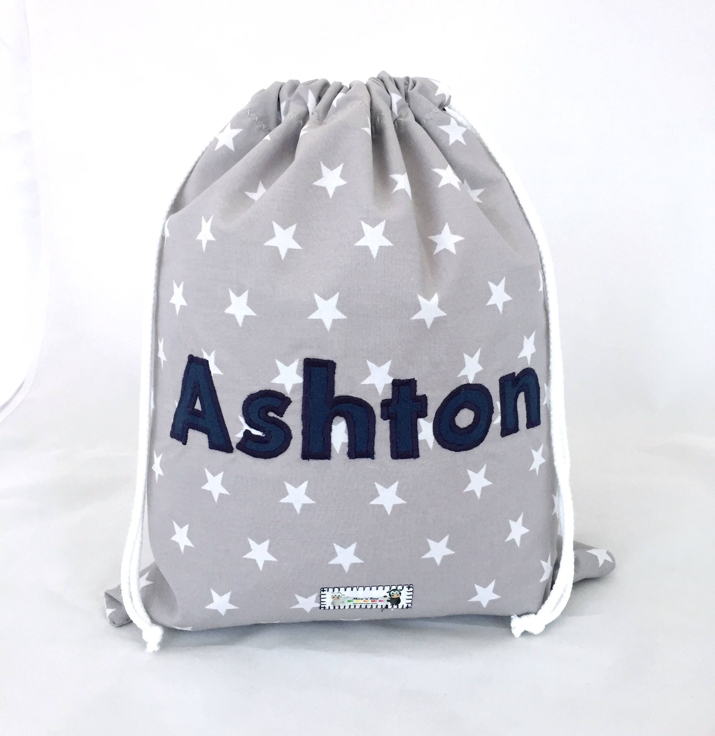 Kids Children S Personalised Drawstring Bag Boys Pe Swim