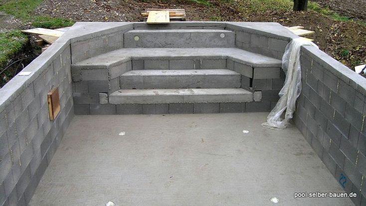 Afbeeldingsresultaat voor pool selber bauen beton