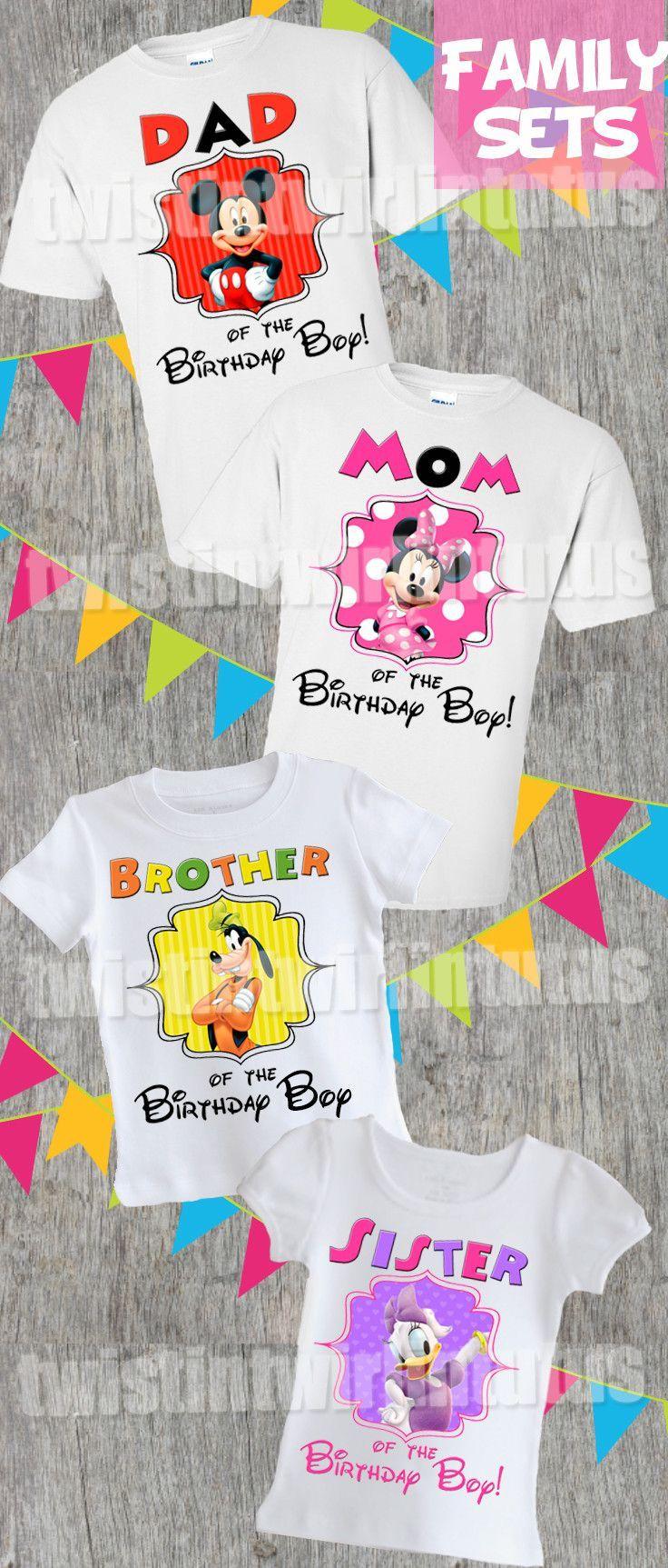 MICKEY UNISEX Shirt #1. FAMILY Matching Birthday Shirts Mickey Birthday Shirt ADD any name and age Mickey /& Pluto Birthday Shirts MICKEY MOUSE Birthday Party Mickey Shirts