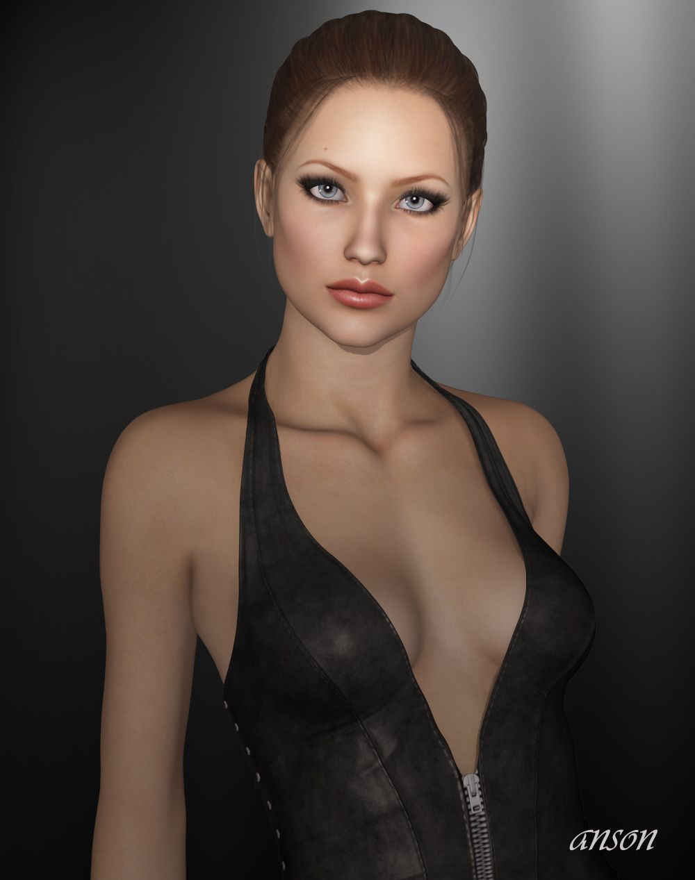 3ds max female human character jessica