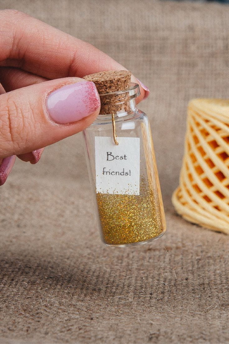 Best friend gift friendship gifts tiny message in a bottle