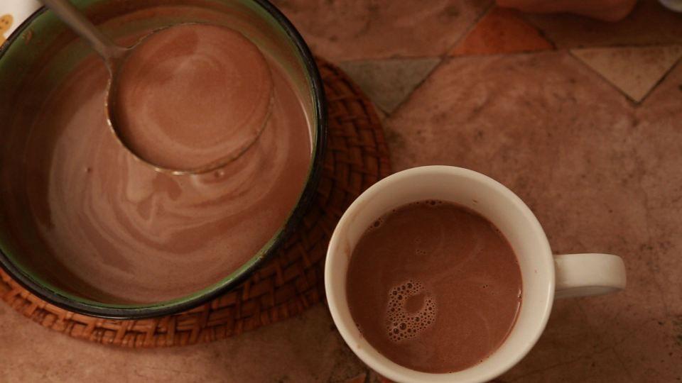 Para o inverno: Chocolate Quente com Manteiga de Amendoim, a famosa Peanut Butter dos gringos, bem cremoso!