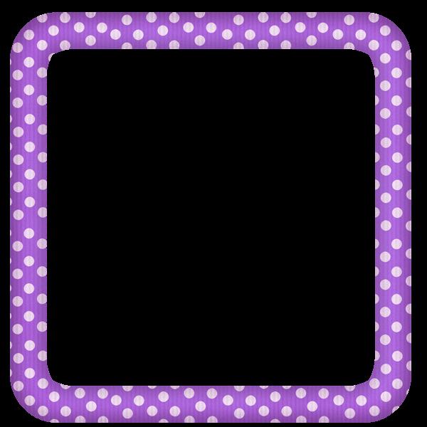 Purple Heart Frames Purple Large Transparent Dotted ...