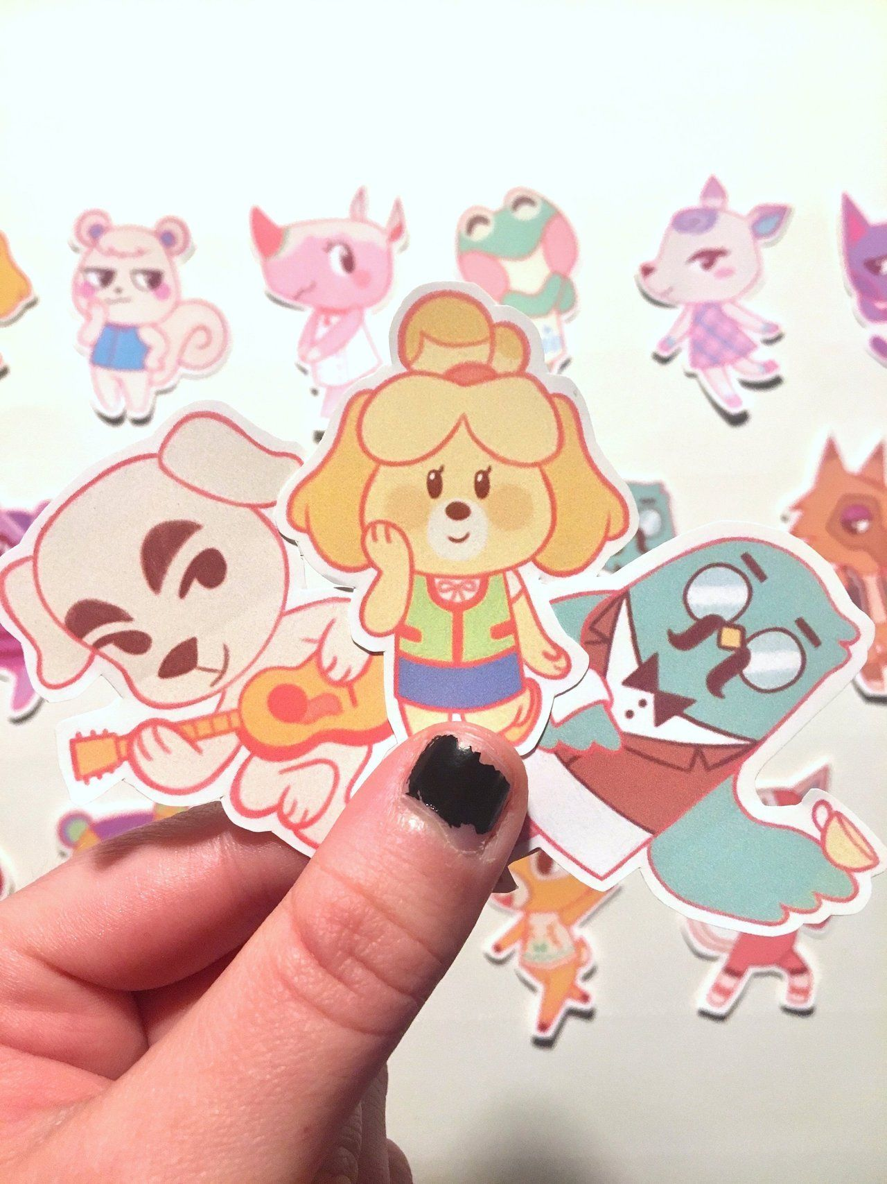 Animal Crossing New Leaf Stickers made by Addison Johnston -