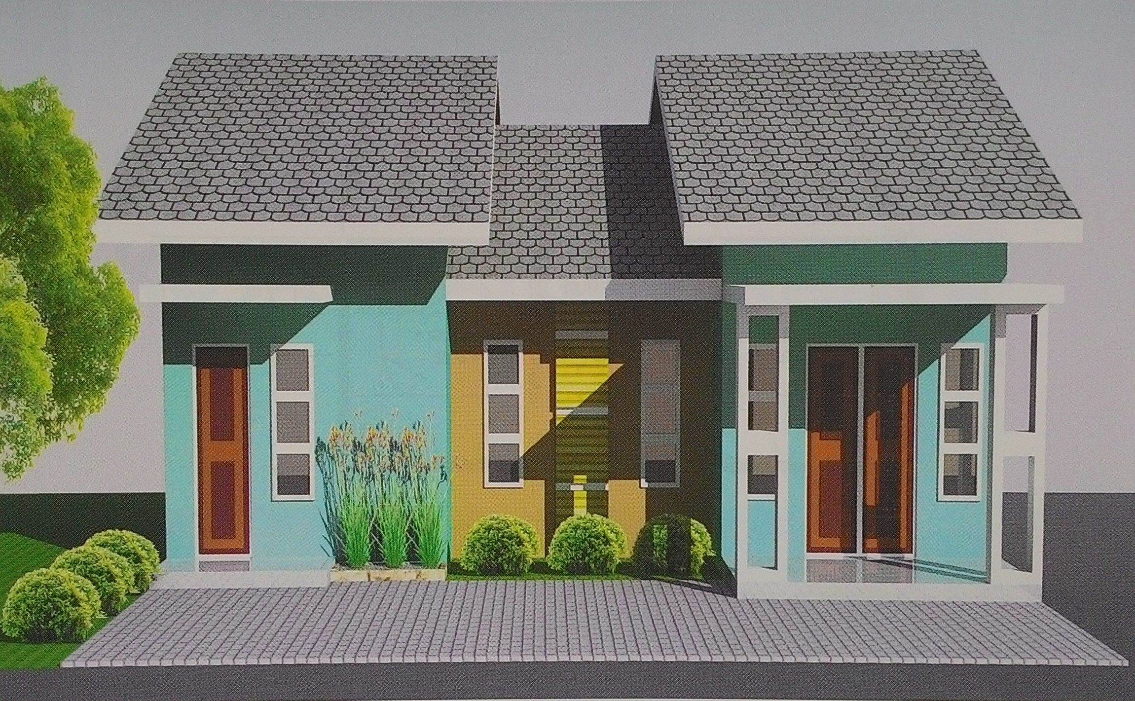 front view for box ornament home design