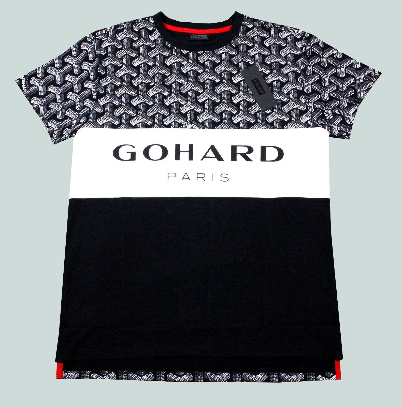 a77291ee8 Men's Go Hard Paris Gucci Parody Goyard Print Tee Shirt M L XL 2X   eBay