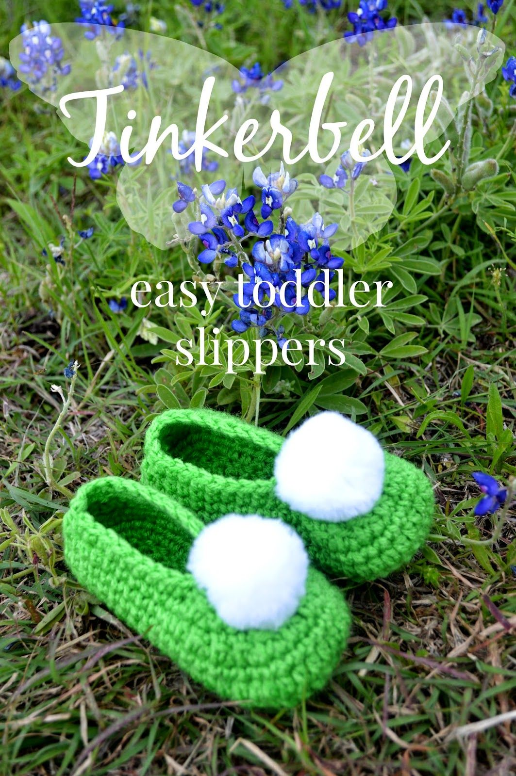 Tinkerbell slippers free pattern | Slippers | Pinterest | Zapatos ...