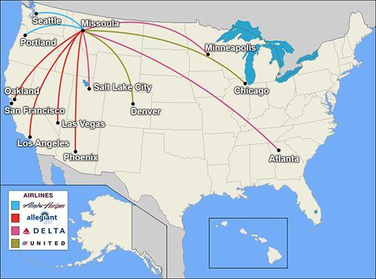 Missoula International Airport Direct Flights Las Vegas Los