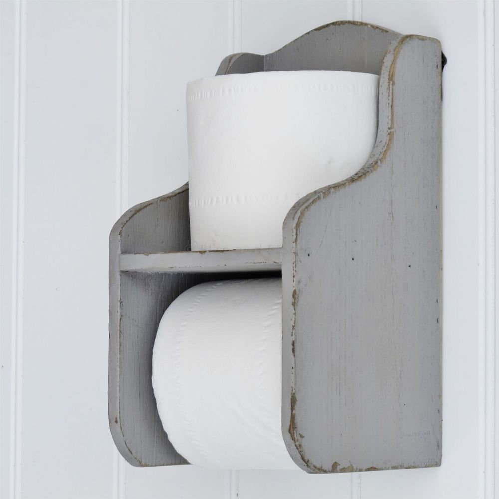 Grey Toilet Roll Holder With Shelf | Toilet roll holder, Toilet and ...