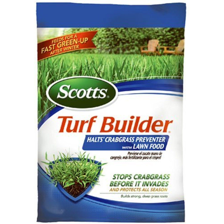 Scotts turf builder halts crabgrass preventer with lawn