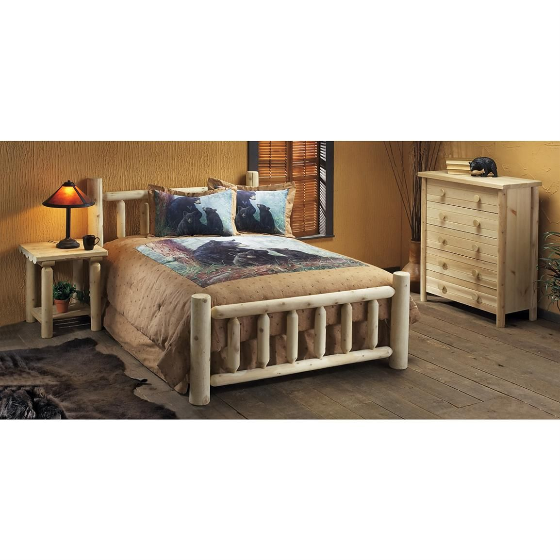 Log Bedroom Sets Amusing Rustic Natural Cedar Furniture Company® Log Bed  Home Is Where 2018