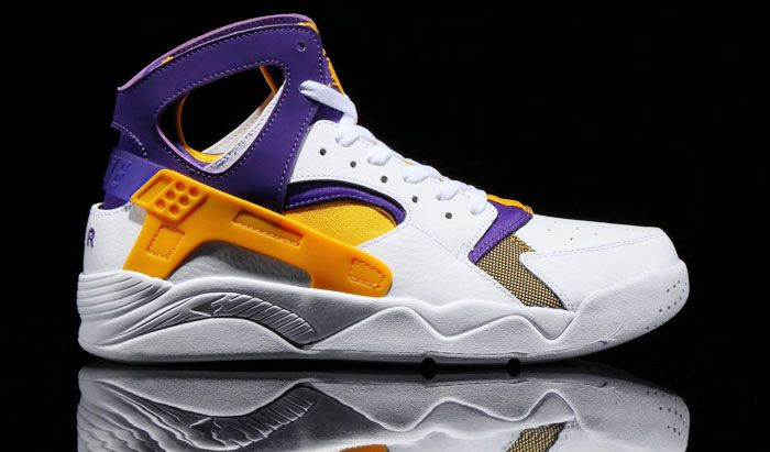 Fresh Nike Air Flight Huarache Lakers-Themed Shoe For Sale