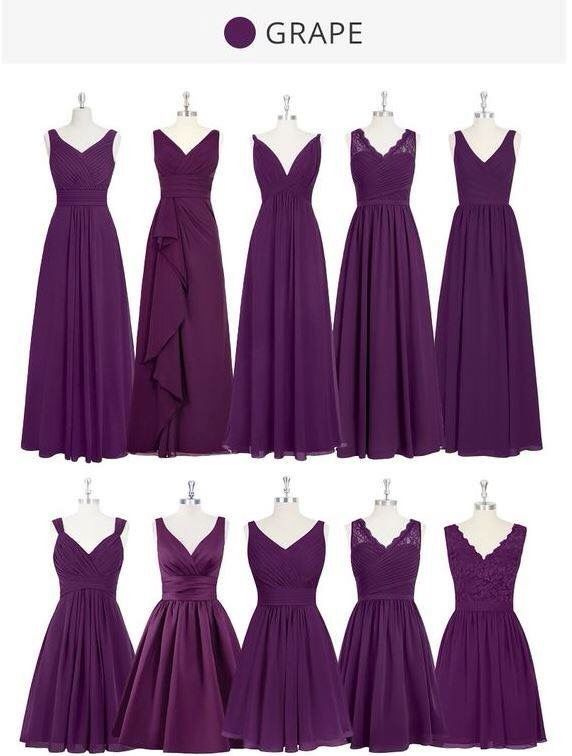 Purple Dress For Bridesmaids Fall Bridesmaid Dresses Wedding
