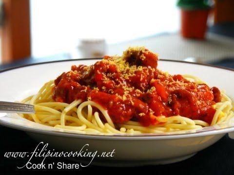 Spaghetti Filipino Style - YouTube