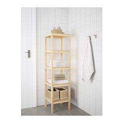 IKEA - MOLGER, Hylle, bjørk, , De åpne hyllene gir enkelt oversikt og er enkle å nå.