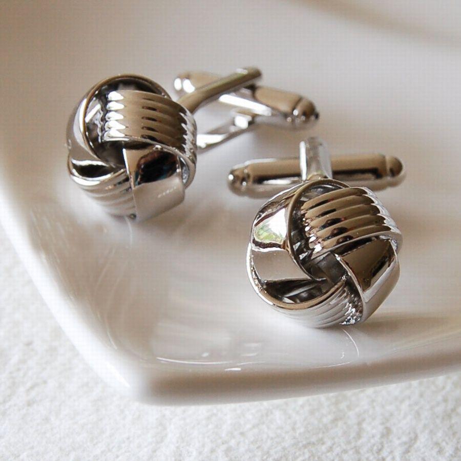 Simple Knot Cufflinks �16.00 - Cufflinks - Classic Cufflinks Buy, Engraved Silver Jewellery, Personalised Mens, Womens Gifts, Online, UK