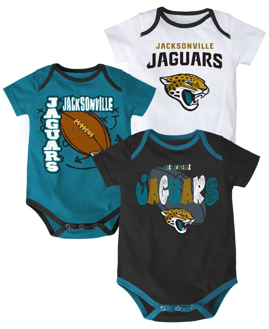 5222d41ad Outerstuff Babies  Jacksonville Jaguars 3-Piece Bodysuit Set