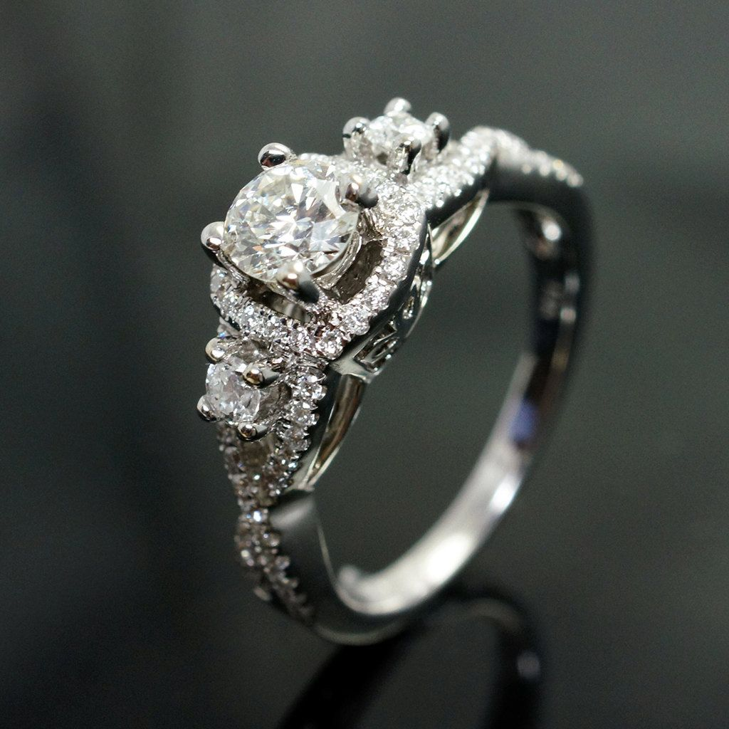 Vintage Style Diamond Engagement Ring & Wedding by
