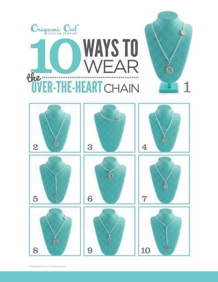Origami Owl Over The Heart Chain My Style Pinterest Origami