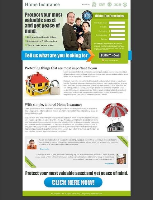 Landing Page Design From Www Semanticlp Com Home Insurance