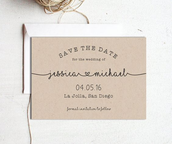 Printable Save the Dates Instant Download Editable by PaperDainty - Formal Invitation Letters