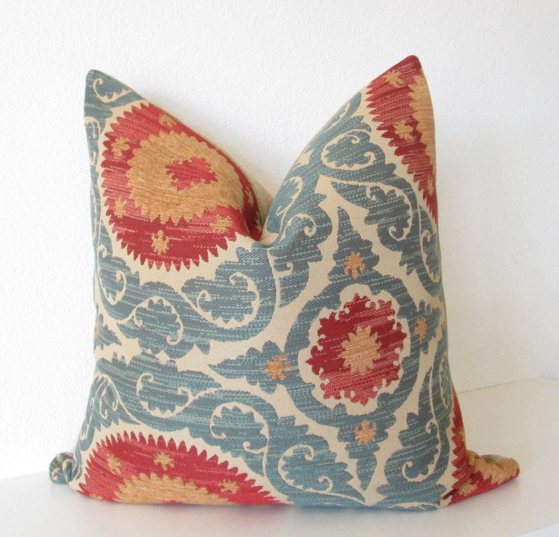 Decorative pillow cover - Throw pillow - Suzani pillow ...