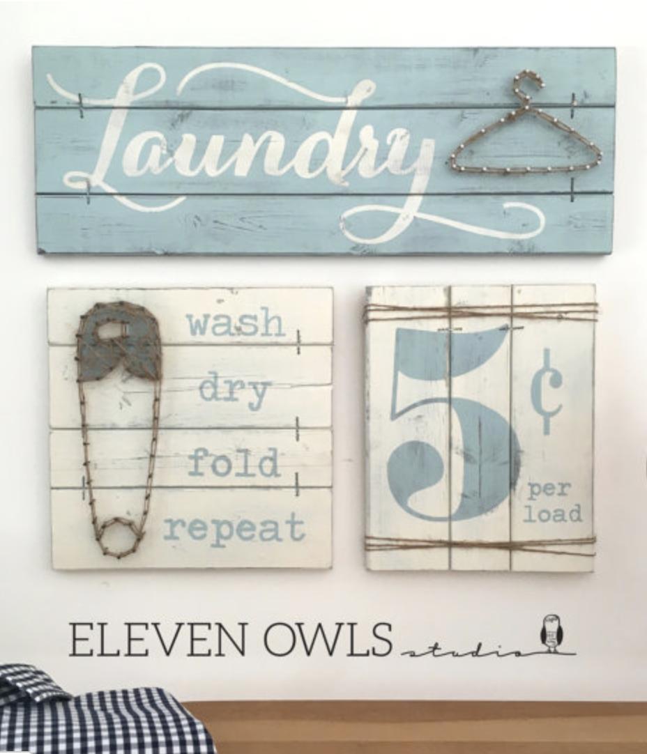 LAUNDRY SIGN SET Laundry Room Decor Laundry Room Decor Signs