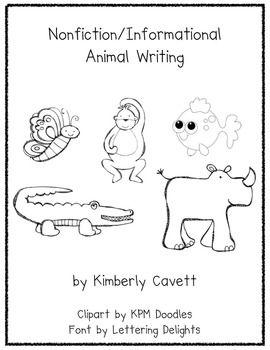K 1 Nonfiction Writing Unit Animals Nonfiction Writing Nonfiction Writing Unit Writing Units