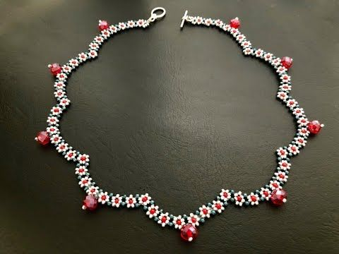 Beaded Daisy Chain Necklace || How to make Beaded Necklace || DIY Necklace - YouTube #beads