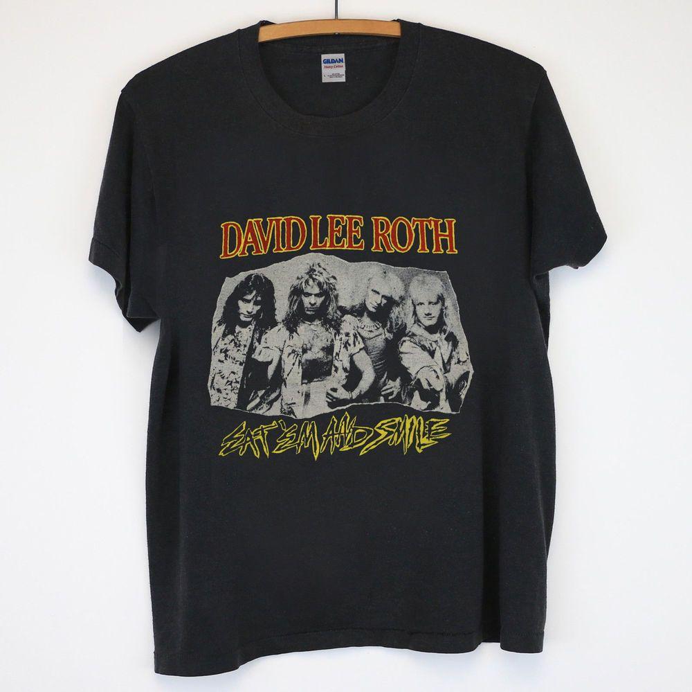 David Lee Roth Eat Em And Smile T Shirt Gildan Usa Size Black Fashion Clothing Shoes Accessories Mensclothing Shirts Ebay L Shirts Tour T Shirts T Shirt
